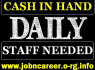 URGENT Staff Required Cash In Hand Daily (1)